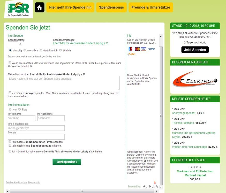 PSR-Spendensongs-Formular