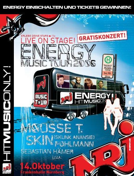 Das neue Corporate Design von ENERGY (ENERGY MUSIC TOUR in Nürnberg )