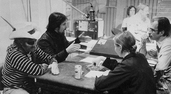 Die 70er: Rik DeLisle (rechts) im Interview mit Dr. Hook