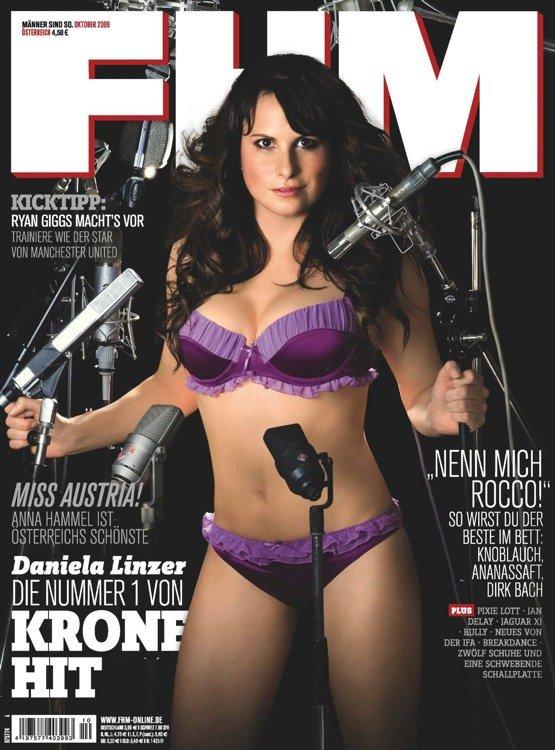 Dani Linzer (KRONEHIT) auf der FHM-Titelseite (Bild: FHM)