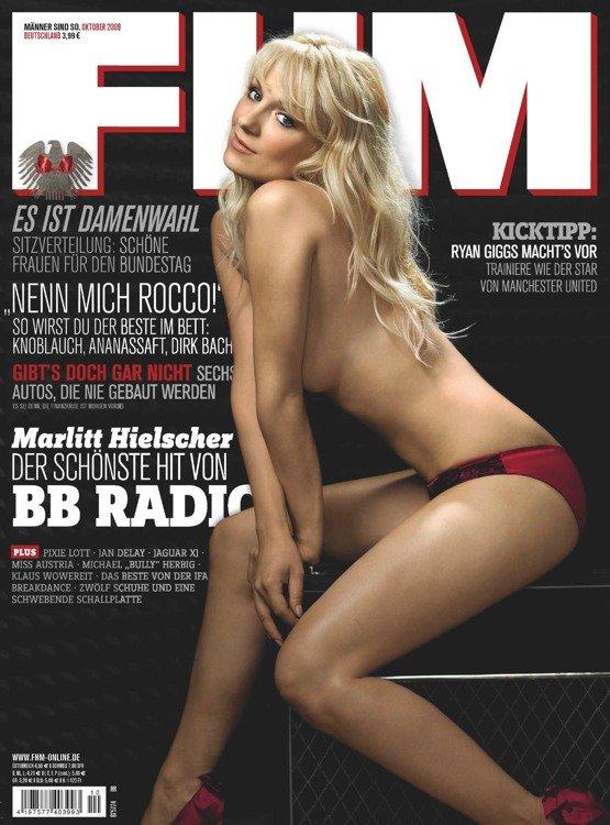 Marlitt Hielscher von BB Radio auf der FHM-Titelseite (Bild: FHM)