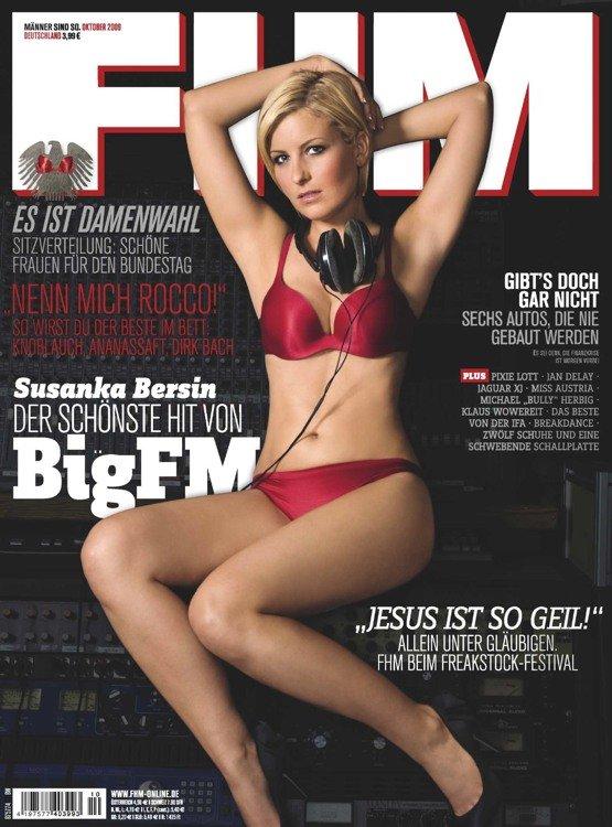 Susanka Bersin (bigFM) auf der FHM-Titelseite (Bild: FHM)