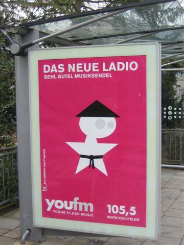 youfm-Citylight gesehen in Wetzlar März 2005
