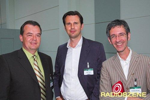 Gregor Spachmann (bigFM), Jan Trenn (RTL), Kristian Kropp (bigFM) (Bild: @RADIOSZENE)
