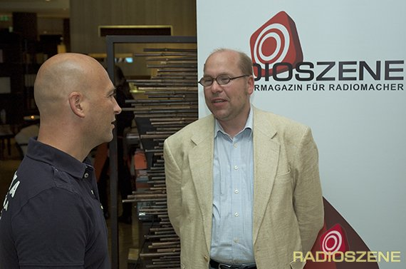 2: Hans Everling ( SOB Audio Imaging) und Hendrik Leuker (Radio Kurier)