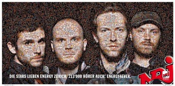 ENERGY Zürich Plakat Coldplay