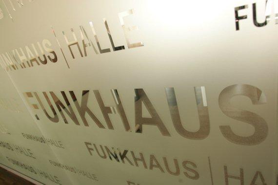 Funkhaus Halle-Glaswand