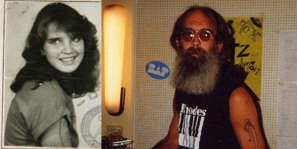 Sina Peschke (Foto: Führerschein) und Rik DeLisle vor 20 Jahren (Foto: DeLisle)