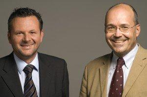Die Antenne Steiermark Geschäftsführer Rudolf Kuzmicki und Gottfried Bichler