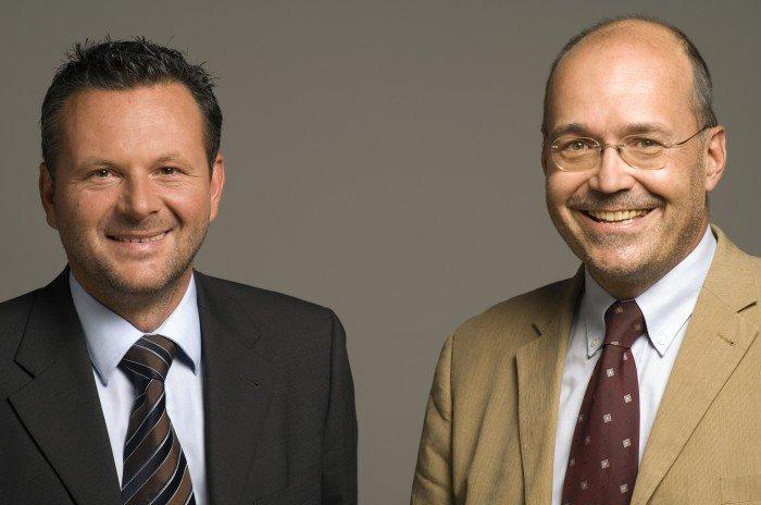 Die Antenne Steiermark Geschäftsführer Gottfried Bichler und Rudolf Kuzmicki