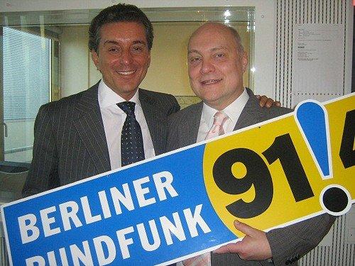 Thomas Koschwitz und Michel Friedmann beim Berliner Rundfunk 91!4