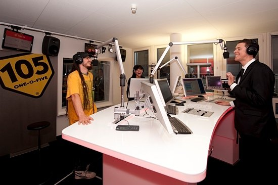 Radio 105 Studio mit Jan und Amanda