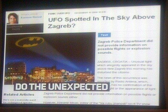 Kreativität aus Kroatien: Antena Zagreb setzt UFO-Gerüchte in die Welt und sich damit in Szene