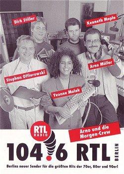 104.6 RTL Arno und die Morgencrew-Autogrammkarte (1992)