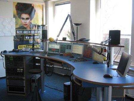 Das 107.8 Antenne AC Studio in Merzbrück bei Würselen