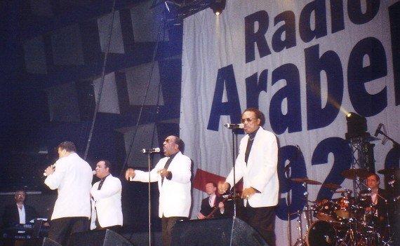 The Drifters auf der Bühne der Radio Aralbella Oldieparty 2006 (Bild: Hendrik Leuker)
