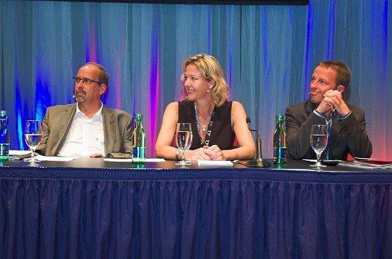 Ernst Swoboda (KRONEHIT), Valerie Weber (Antenne Bayern), Georg Spatt (Ö3)