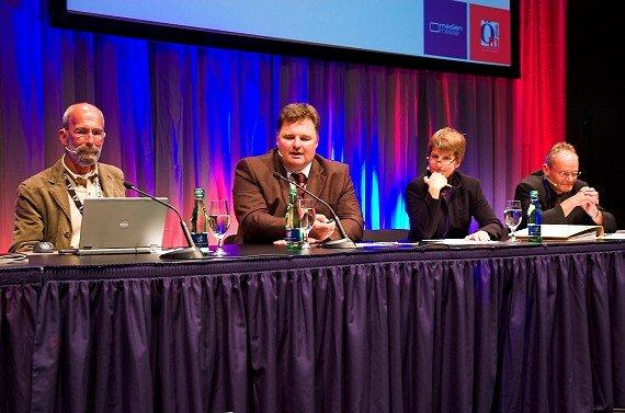 Rik DeLisle (Alan Burns&Associates), Peter Bartsch (Antenne Steiermark),  Brigitte Wolf (Radio Wien), Michael Graf (RMS)