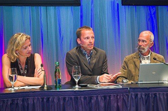 Valerie Weber (Antenne Bayern), Georg Spatt (Ö3), Rik DeLisle (Alan Burns&Associates)