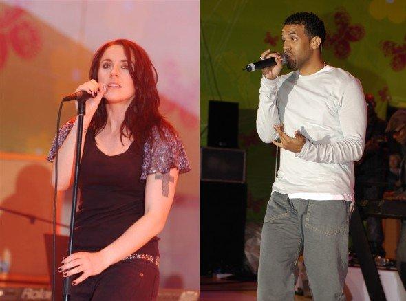 Melanie C und Craig David auf der NRJ IN THE PARK Bühne