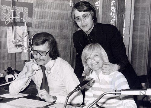 Jochen Pützenbacher, Frank Elstner und Helga Guitton im RTL Studio (Foto: Privatarchiv Jochen Pützenbacher)