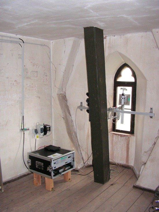 Radio Frankenberg Sender befindet sich direkt unter dem Dach