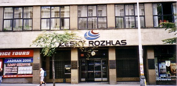 Das Rundfunkgebäude des öffentlich- rechtlichen Rundfunks in Vinohradská 12 in Prag