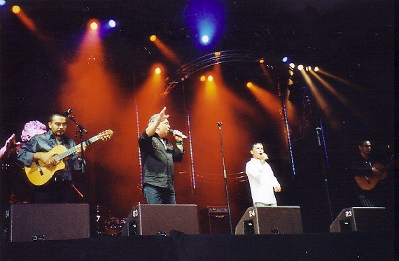 Die Gipsy-Kings auf der Stars for free-Bühne (Foto: Hendrik Leuker)