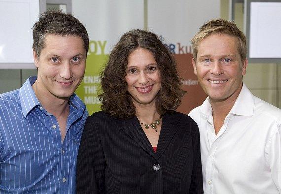 v.l.n.r.: Stefan Frech (N-JOY), Elke Wiswedel (NDR 2) und Hinnerk Baumgarten (NDR 2)