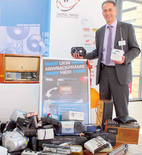 Michael Richter, Geschäftsstellenleiter des Vereins Digital Radio Mitteldeutschland