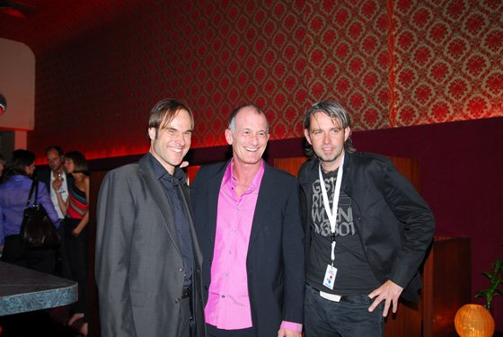 QUU.FM-Geschäftsführer Harald König, Ray Cokes, Programdirektor Maik Nöcker