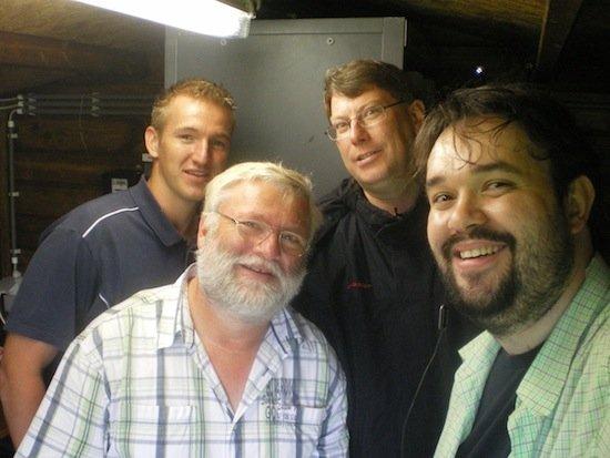 das Technikteam von RADIO 700 (v.l.n.r. Christoph Axer, Jürgen Eckert, Bernd Frinken, Christian Milling)