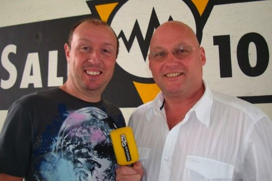 Frühstücksclub-Moderator Wettermüller und Klaus Hoffmann