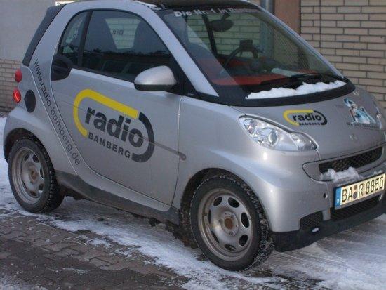 Firmenwagen von Radio Bamberg