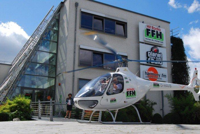 FFH-Zehnerjagd mit Helikopter am FFH-Funkhaus
