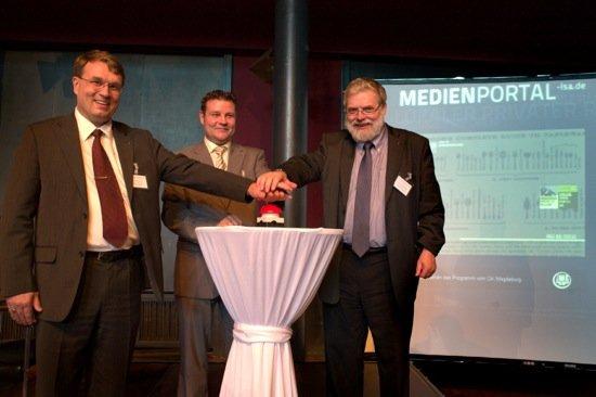 (v.l.n.r.) Albrecht Steinhäuser, Markus Kurze, Prof. Dr. Konrad Breitenborn Foto Quelle: MSA / René Schäffer