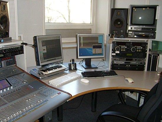 Produktionsstudio von Radio Gong 96,3