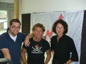 v. l. RADIO 21-Moderator Per Eggers, Peter Maffay, RADIO 21-Geschäftsführerin Nora Köhler