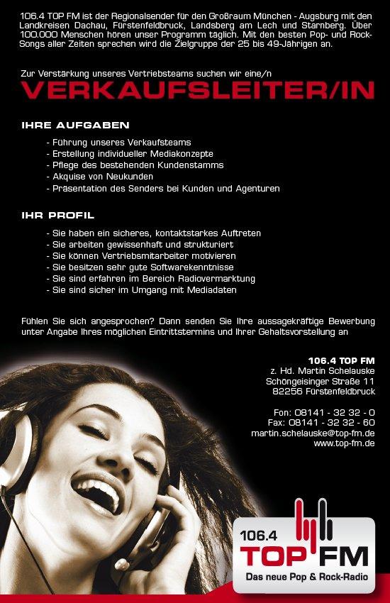 TOP FM - Stellenanzeige-261010