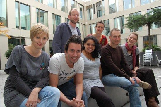 """380 Grad"" Team: Hintere Reihe (v.l.n.r.) Tobias Nagorny, Lena Döring  Vordere Reihe (v.l.n.r.) Isabelle Werner, Teja Adams, Janine Horsch Marcello Bonventre, Hanna Möllers"