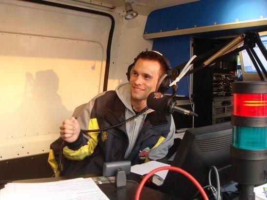 Live Sendung aus dem Studiobus von Radio 24