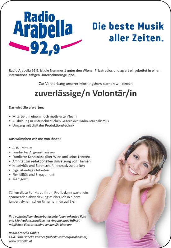 Radio Arabella Wien sucht zuverlässige/n Volontär/in