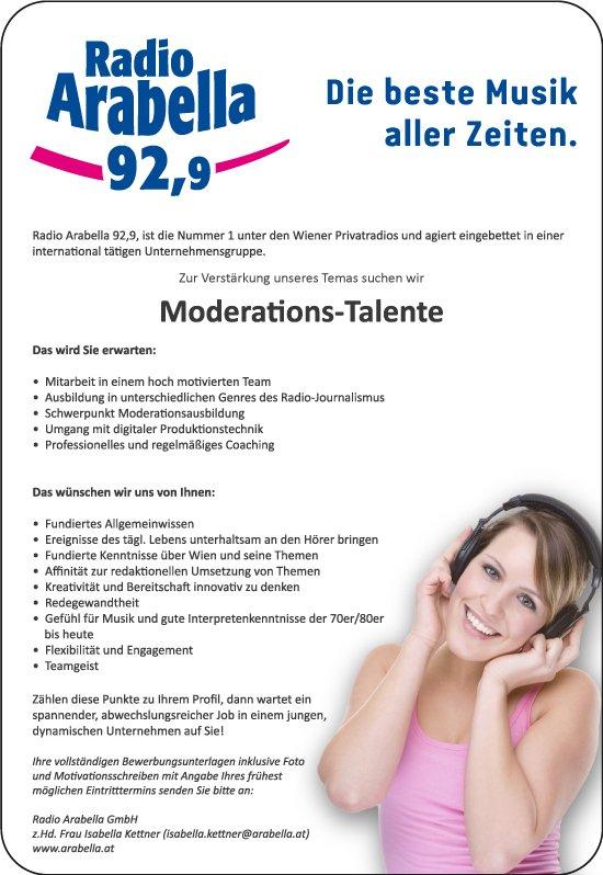 Arabella Wien sucht Moderationstalente