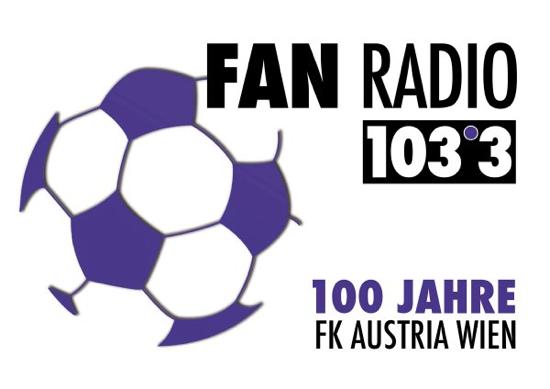"Logo des ""Ereignishörfunksenders"" FAN RADIO 103,3"