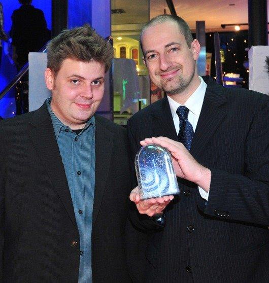 Thorsten Otto (li) und Markus Grieger (re) bei der letztjährigen Hörfunkpreisverleihung