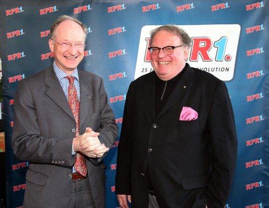 Christian Lindner (Chefredakteur Rhein- Zeitung) und Wolfgang -Schumacher (Staatssekretär Ministerium für Bildung) Foto: RPR1./Michael Wallrath