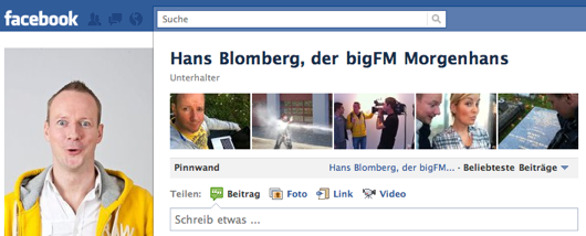Hans-Blombergs Facebook-Fanseite