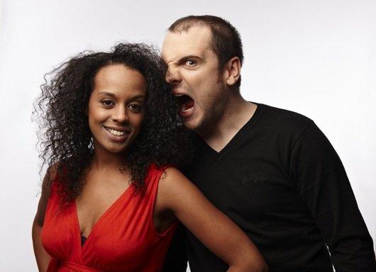 Ingmar und Boussa stehen mit der ENERGY Berlin Toastshow erstmals auf der Bühne des Quatsch Comedy Club in Berlin