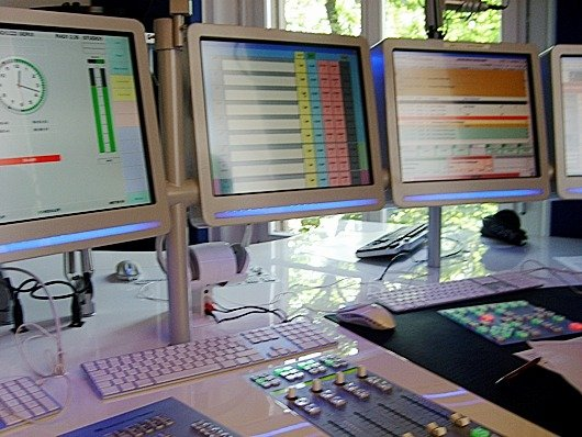 Blick ins Studio von Radio 1