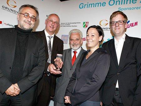 Egbert Meyer, Programmleiter Dietmar Timm, Intendant Willi Steul, Anja Stöcker und Markus Frania (v.l.n.r.). (Flickr/ Grimme-Institut/ Jens Becker cc by-nc-sa/ 2.0)